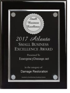 Small Business Award for Excellence as Damage Restoratin Company